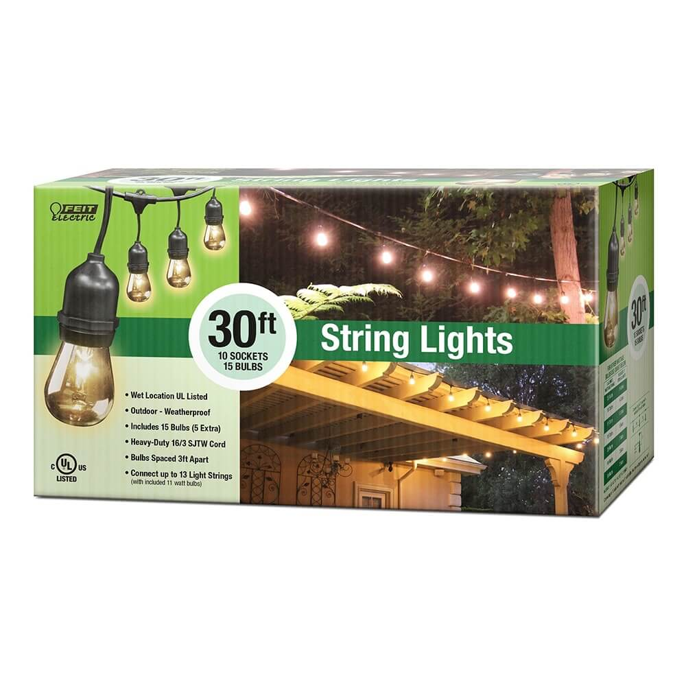 Feit Electric String Lights Dimmable : 30 Foot String Lights - Feit Electric