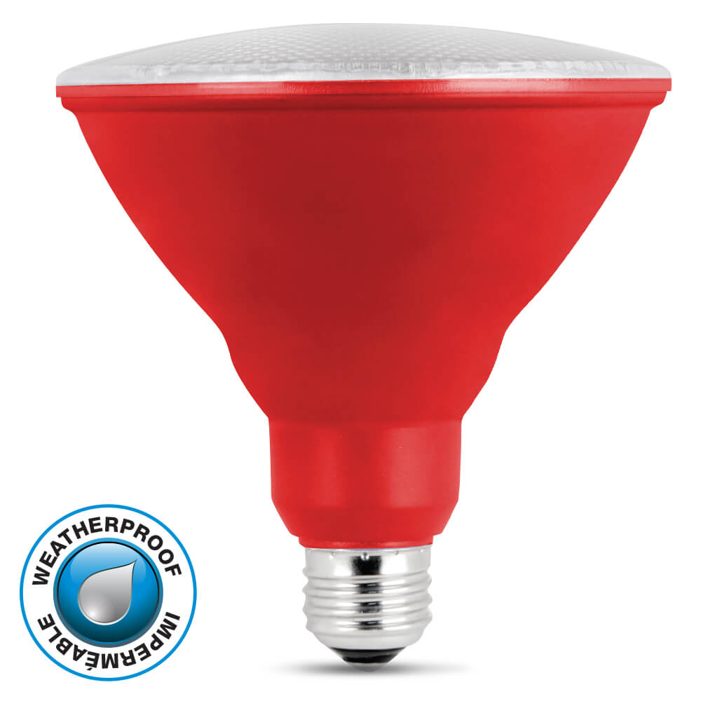 11 000 Hour Non Dimmable Red Led Par38 Feit Electric