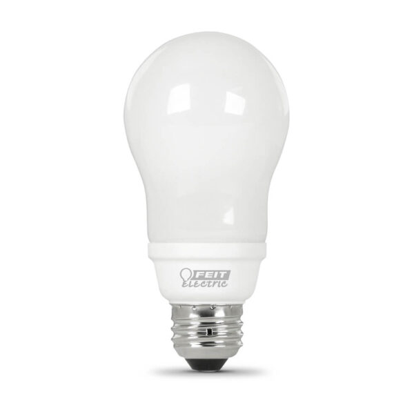 60 Watt Replacement Soft White Rubber Coated CFL
