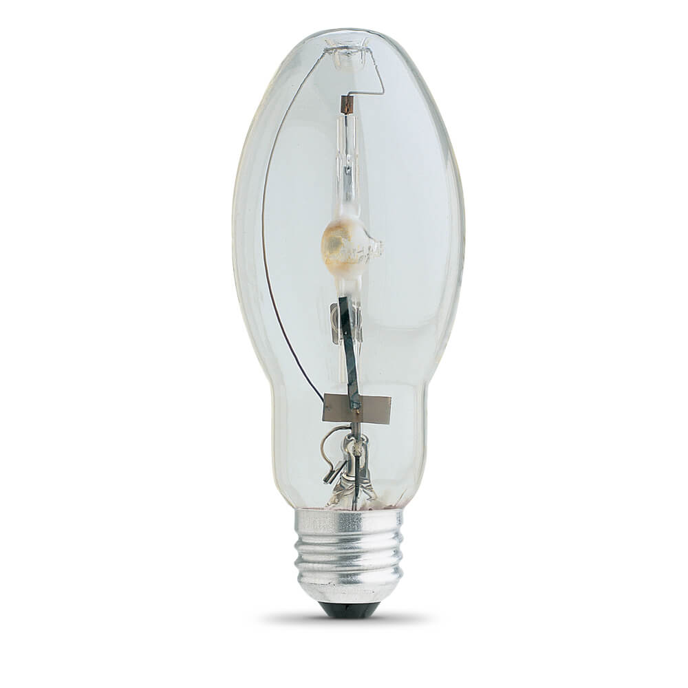100 Watt clear Metal Halide pulse start lamp with a medium (E26) base. For use only with ANSI ballast M90