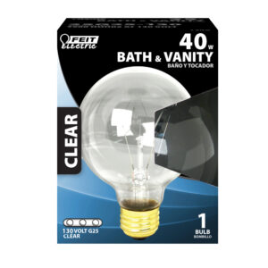 Feit Electric 40 Watt Soft White Globe G25 Dimmable Incandescent Light Bulb