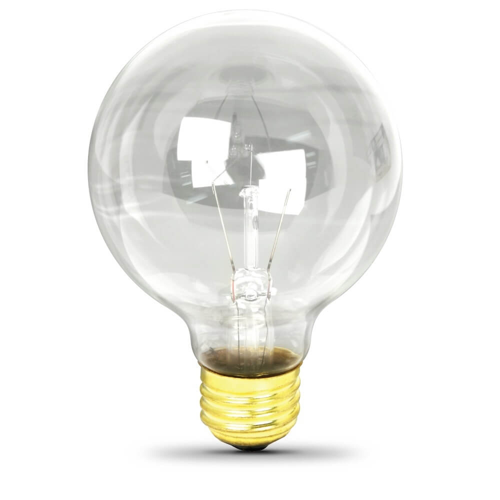 Feit Electric clear incandescent G25