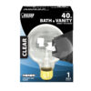 Feit Electric incandescent globe clear bulb