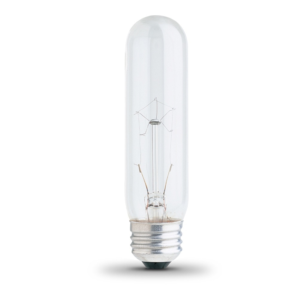 40 watt T10 130V with a Medium (E26) base. Clear Incandescent Light Bulb