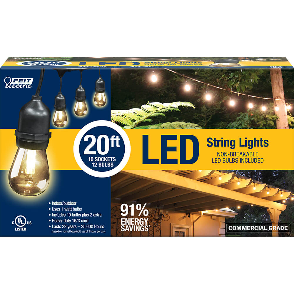 20 Foot Led String Lights Feit Electric