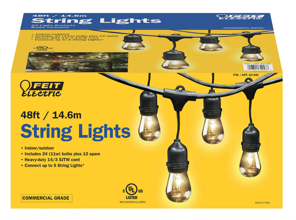 String Lights Feit Electric : 48 foot String Lights - Feit Electric