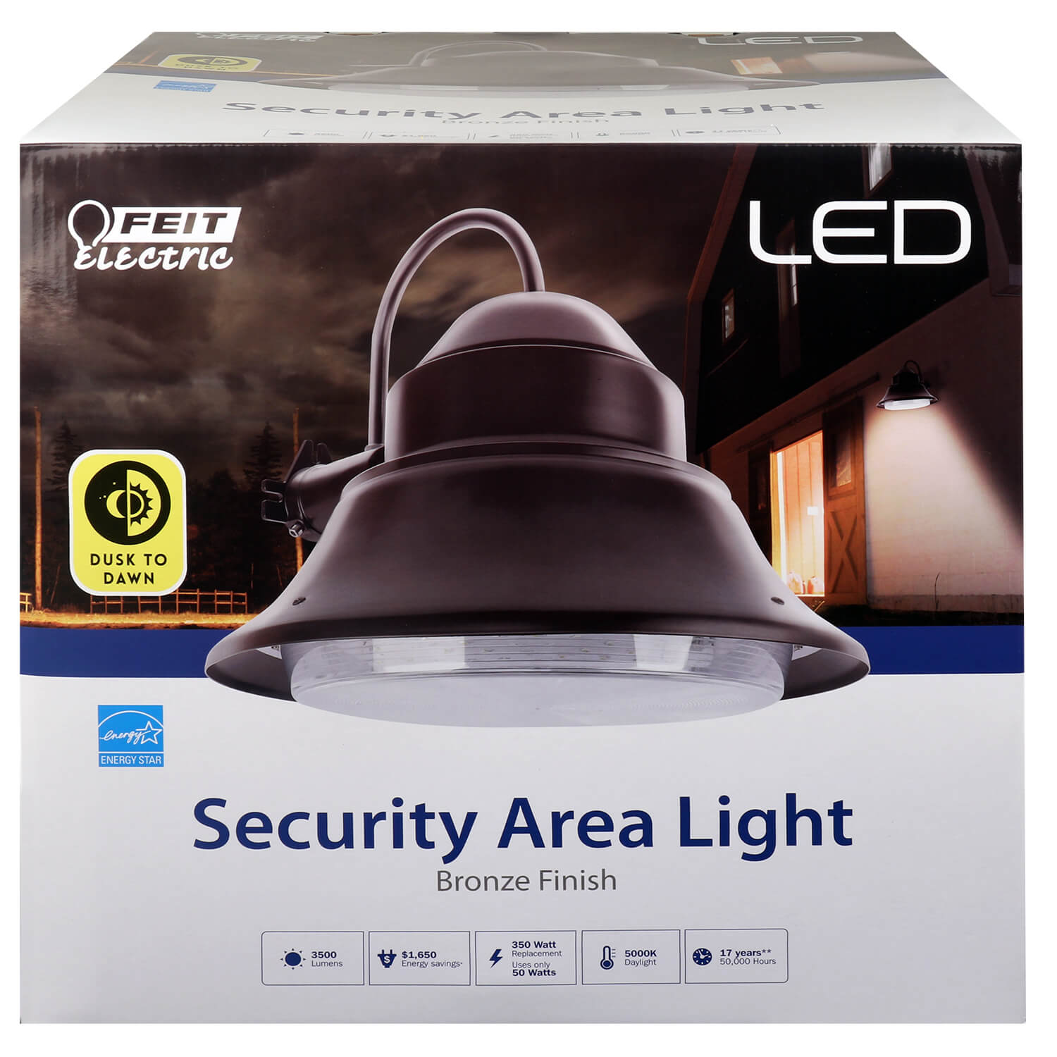 3500 Lumens 5000k Dusk To Dawn Yard Light Feit Electric