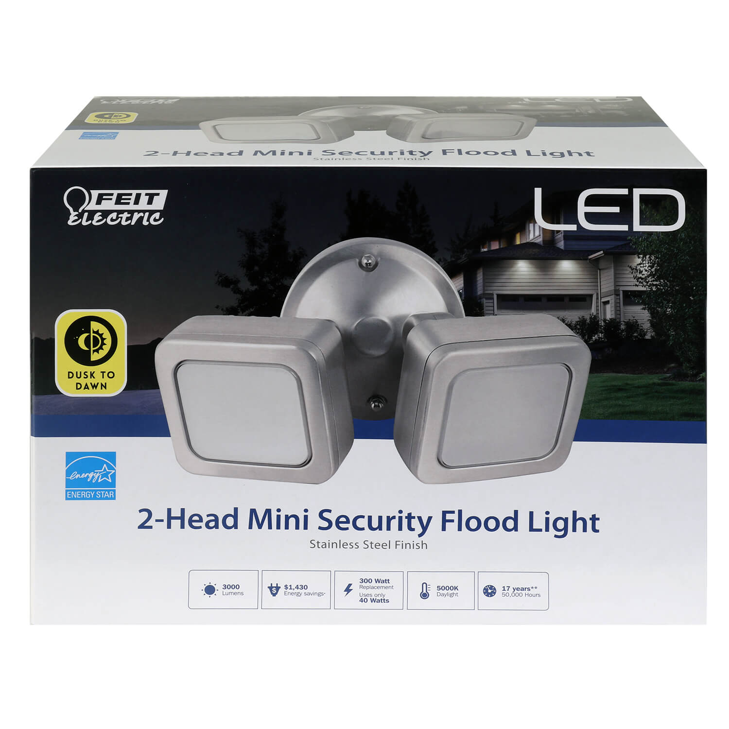 3000 Lumens 5000k Mini Dual Flood Dusk To Dawn Light