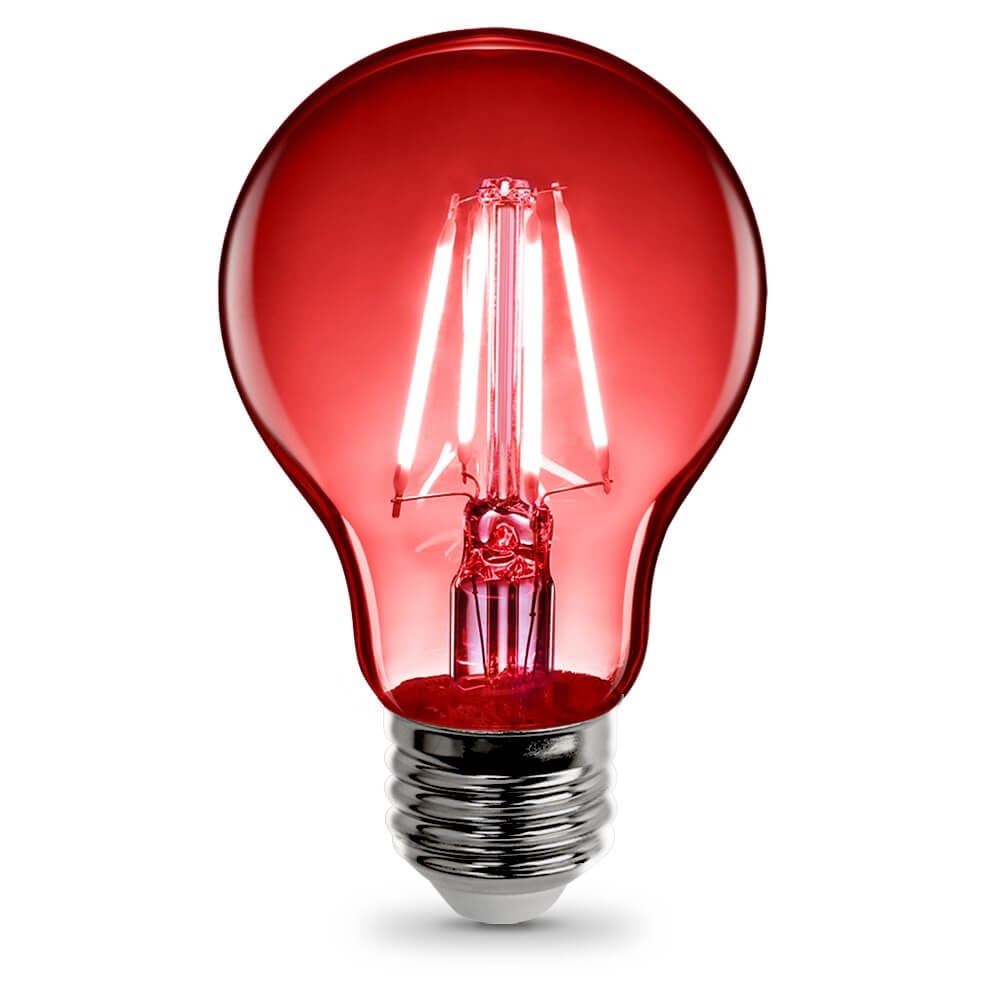 A19 Clear Glass Red Led Bulb Feit Electric