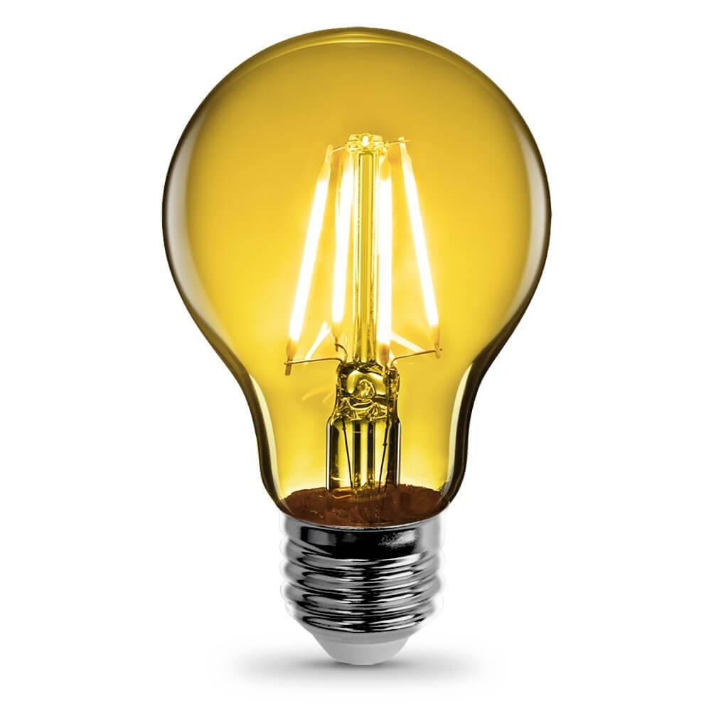 A19 Clear Glass Yellow Led Bulb Feit Electric