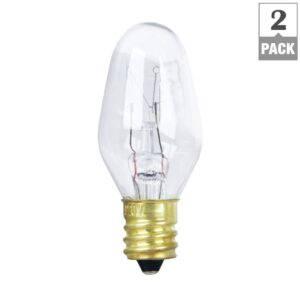 10 Watt Soft White C7 Dimmable Incandescent Light Bulb (BP10C71/2/RP) - Feit Electric