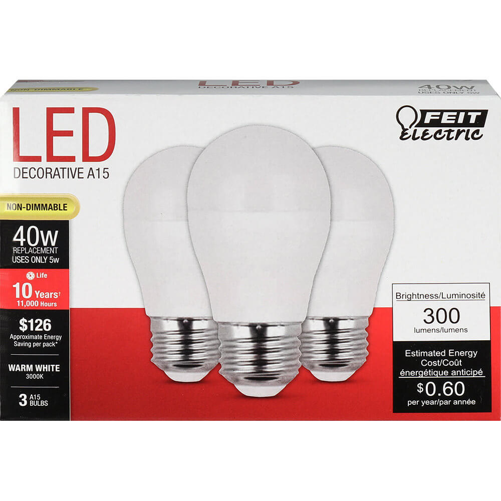 300 Lumen 3000k Non Dimmable Led Feit Electric