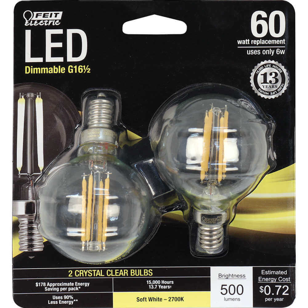 Feit Electric String Lights Dimmable : 500 Lumen 2700K Dimmable LED - Feit Electric