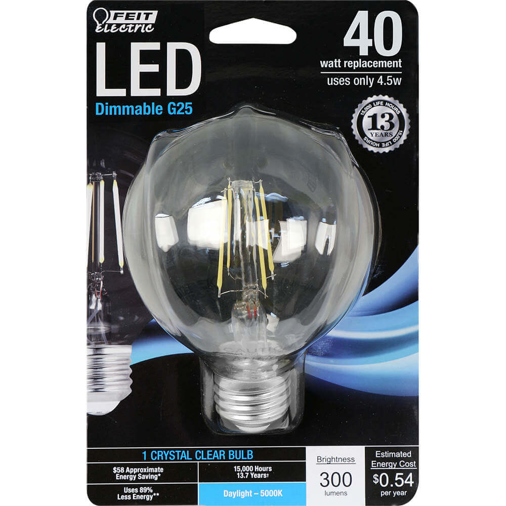 Feit Electric String Lights Dimmable : 300 Lumen 5000K Dimmable LED - Feit Electric