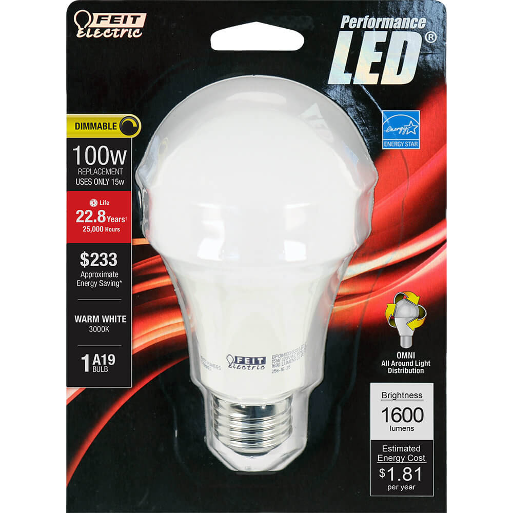 1600 Lumen 3000K Dimmable LED - Feit Electric