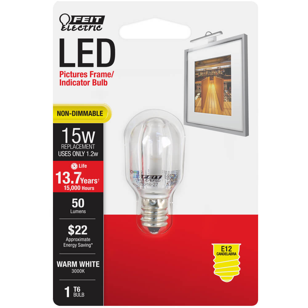 50 Lumen 3000k Non Dimmable Led Feit Electric