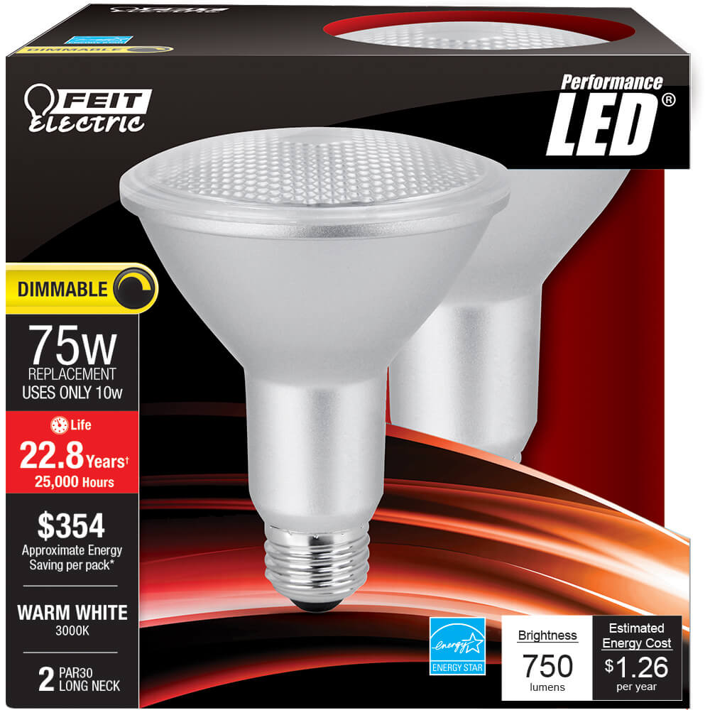 750 Lumen 3000k Dimmable Led Par30 Feit Electric