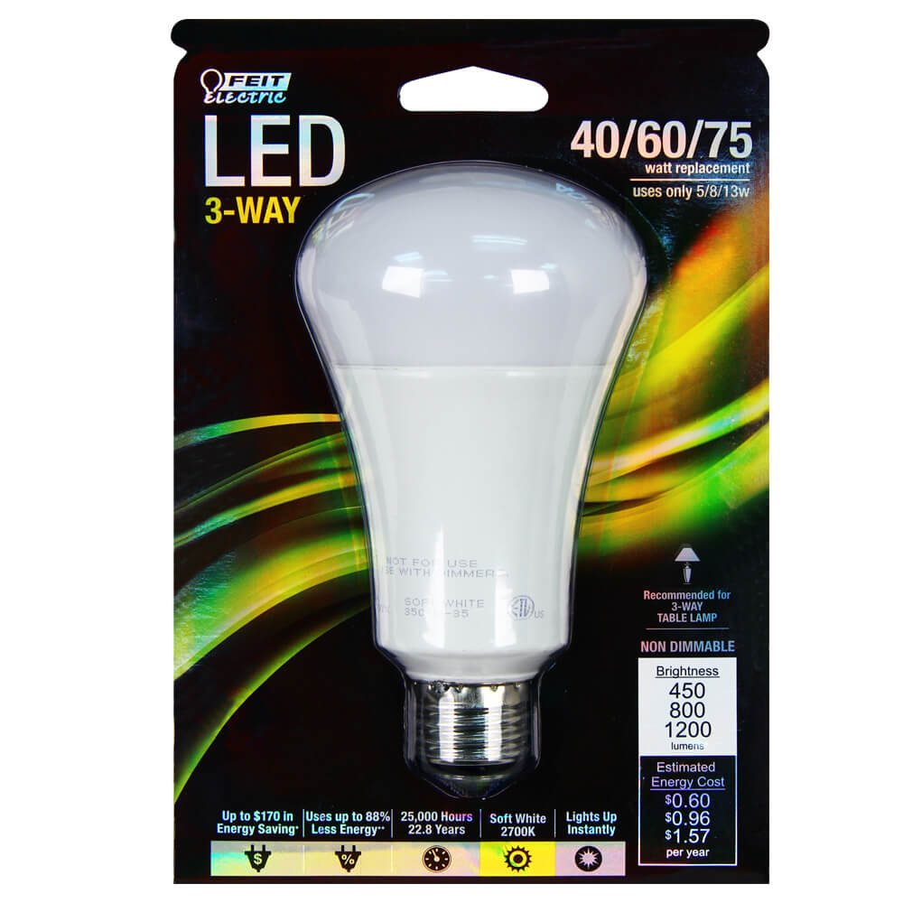 3 Way Led Bulbs 3 Way Led Bulb Great Eagle 40 60 Watt Bulb Lumen Output 93 3 Way Led Light