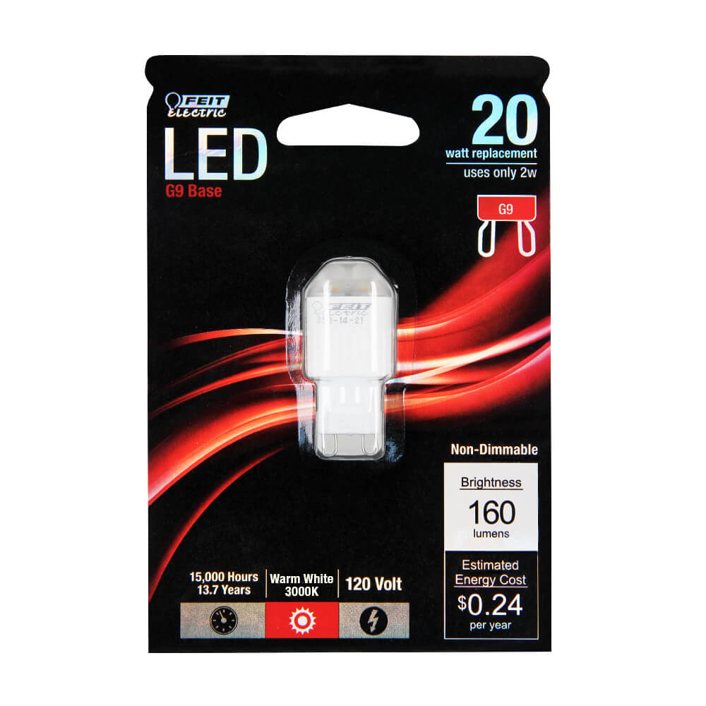 160 Lumen 3000k Non Dimmable G9 Led Feit Electric