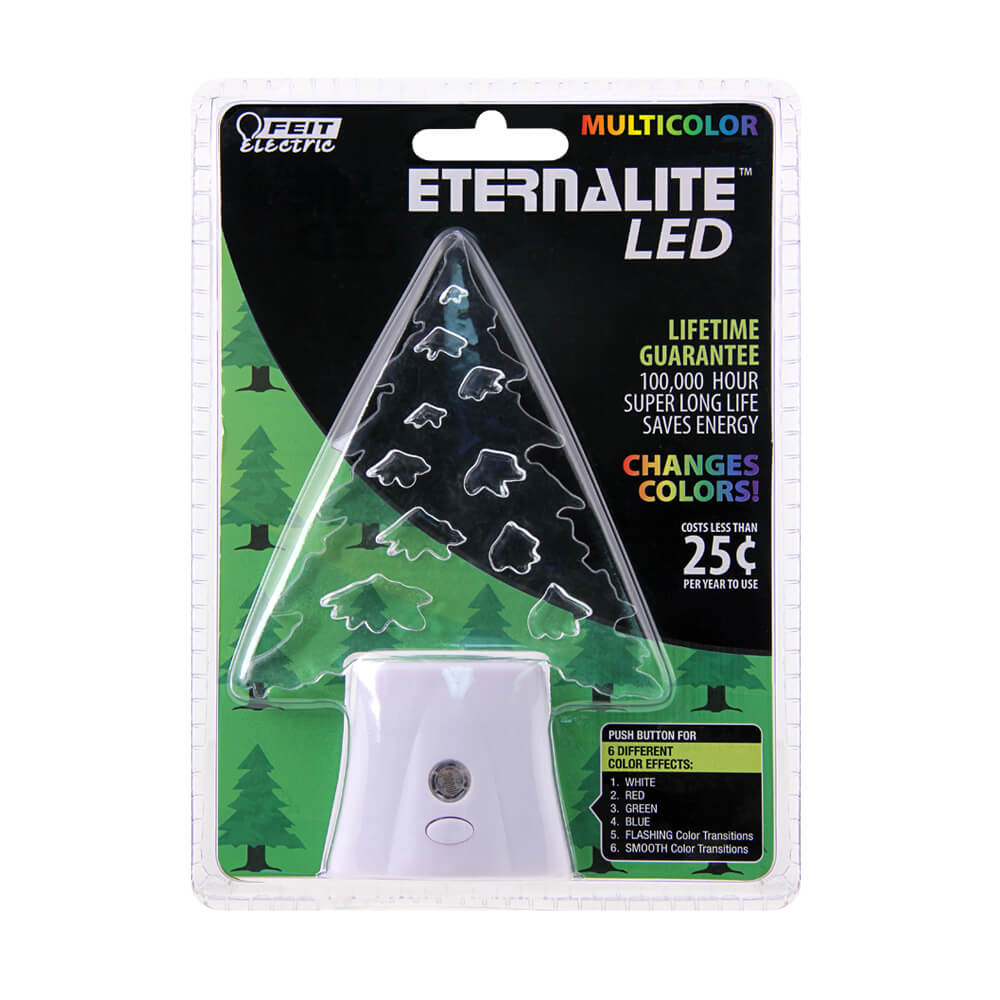 Color Changing Holiday Tree LED Night Light - Feit Electric