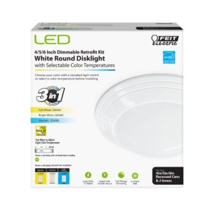 90 Lumen Integrated LED Disc Light - Feit Electric