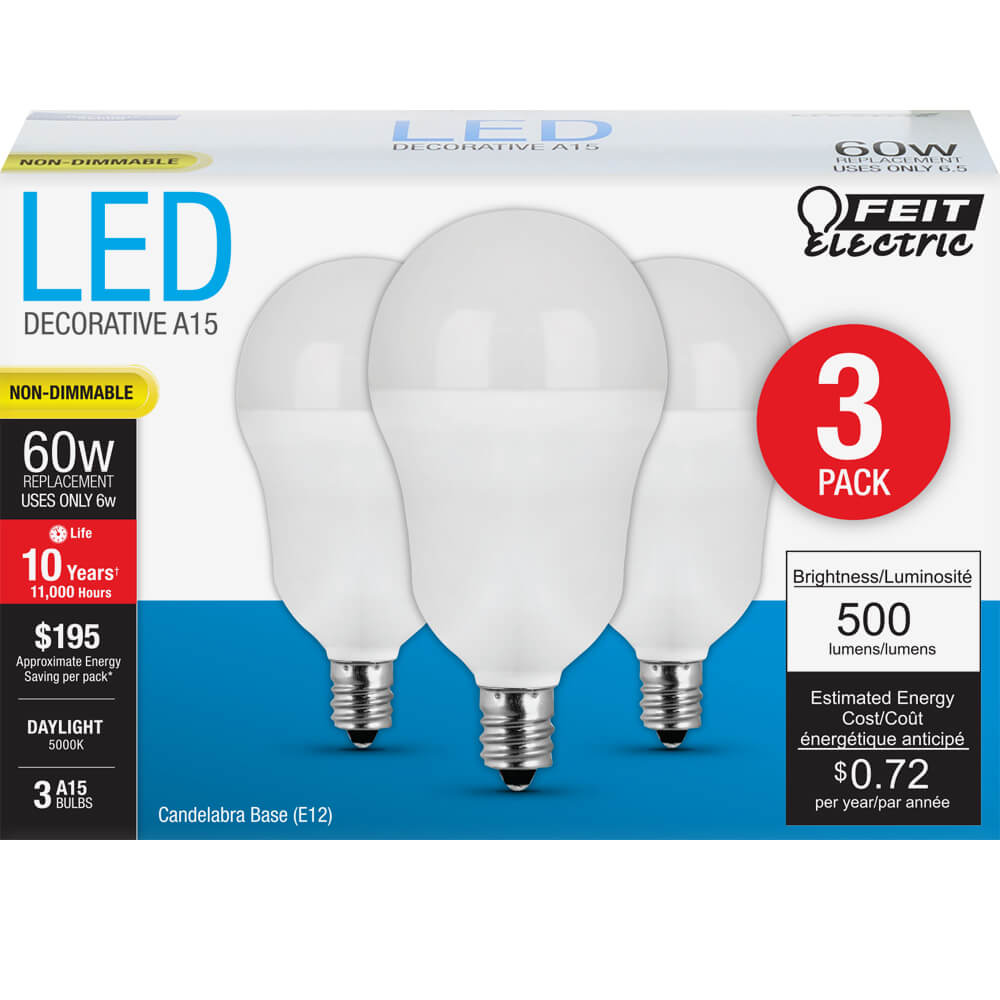 500 Lumen 5000k Non Dimmable A15 Led Feit Electric