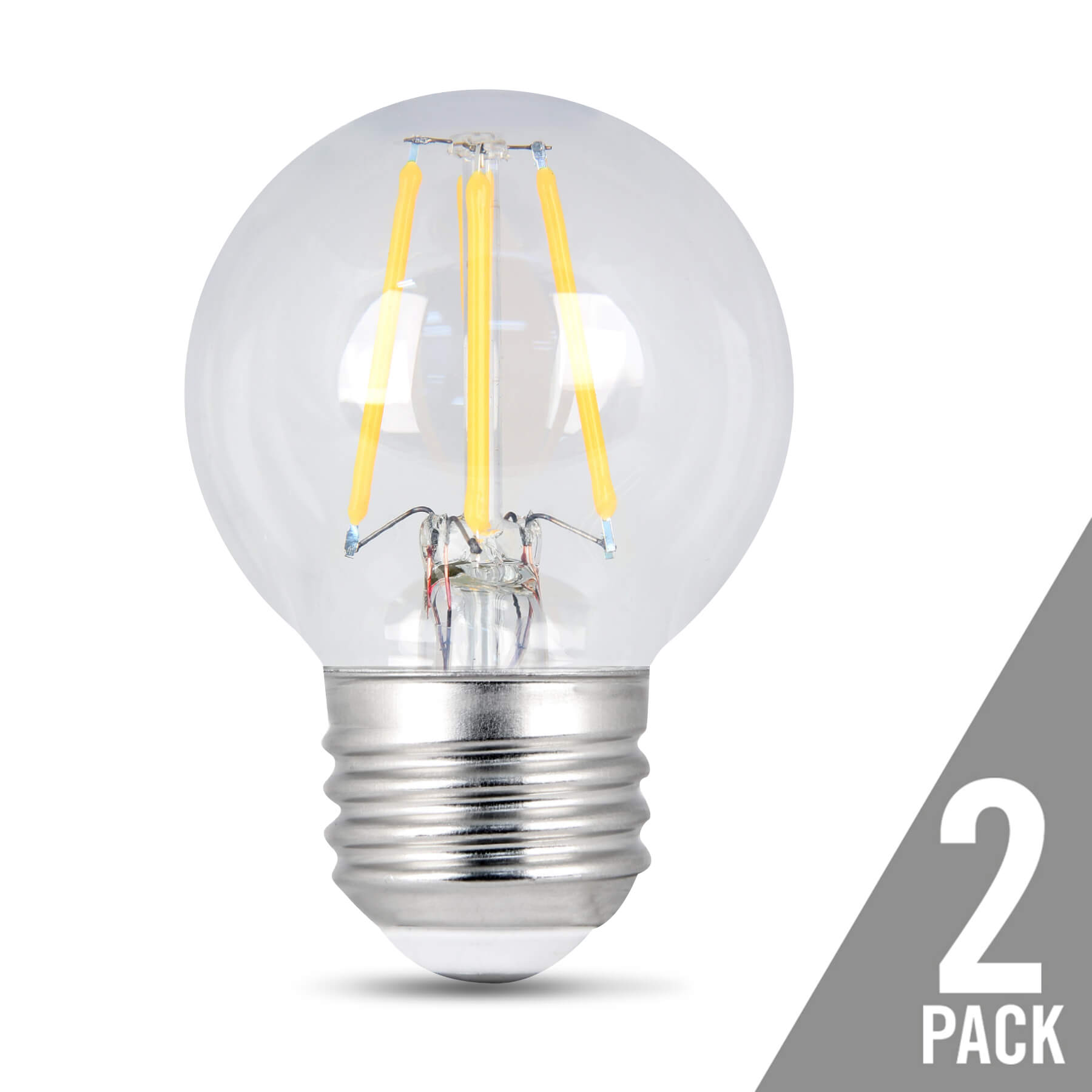300 Lumen Vintage 2700k Dimmable Led G16 1 2 Feit Electric