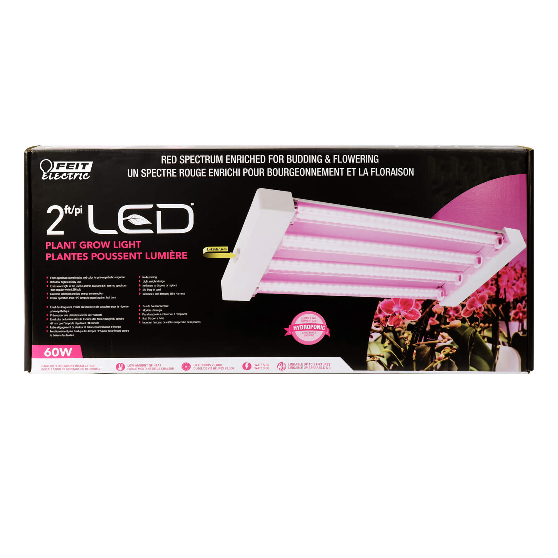 Red Spectrum Quad 2ft Led Grow Light Feit Electric