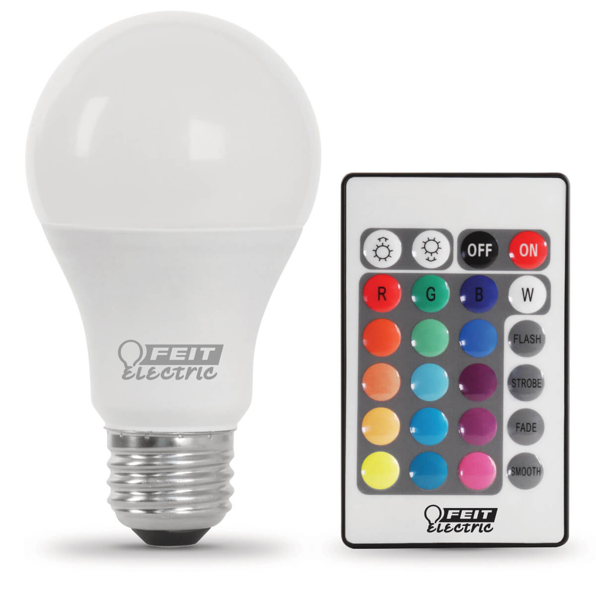 Feit String Lights Colored Bulbs : Remote Control Color Changing LED - Feit Electric