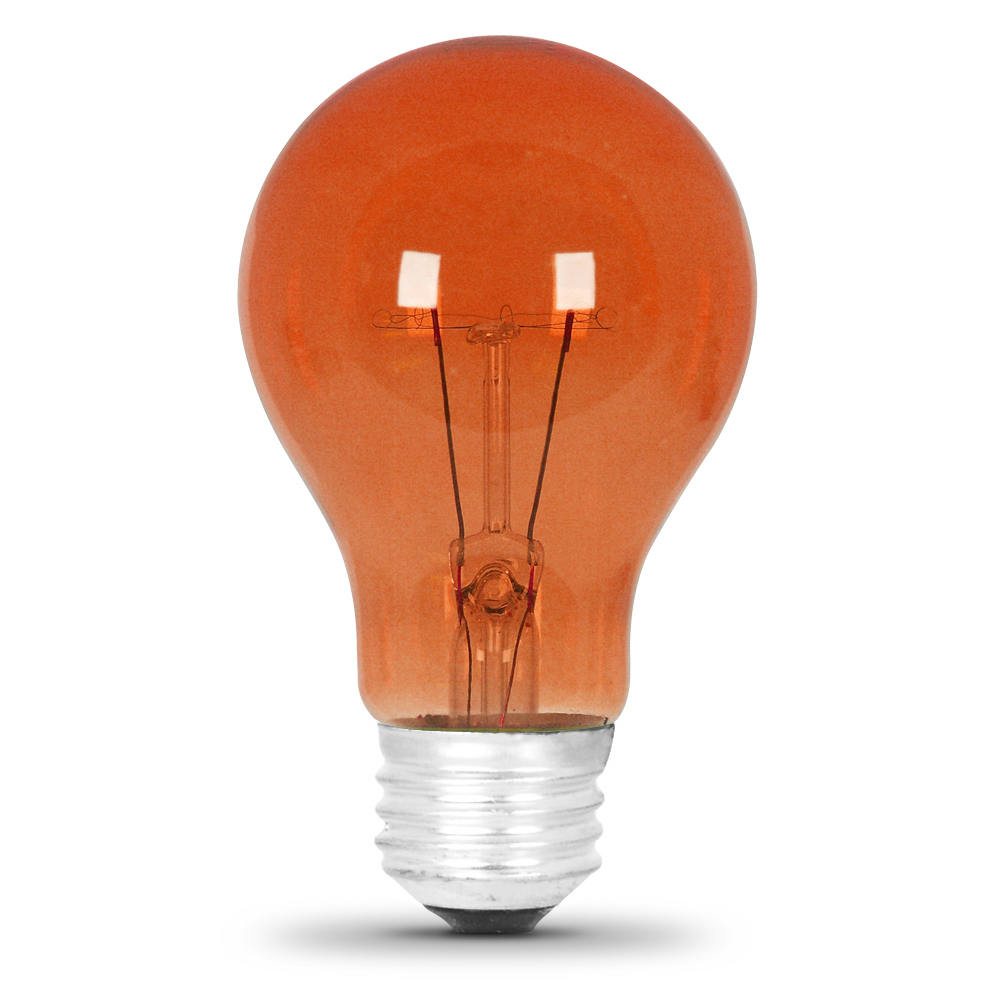 25 Watt Transparent Orange A19 Party Light Feit Electric