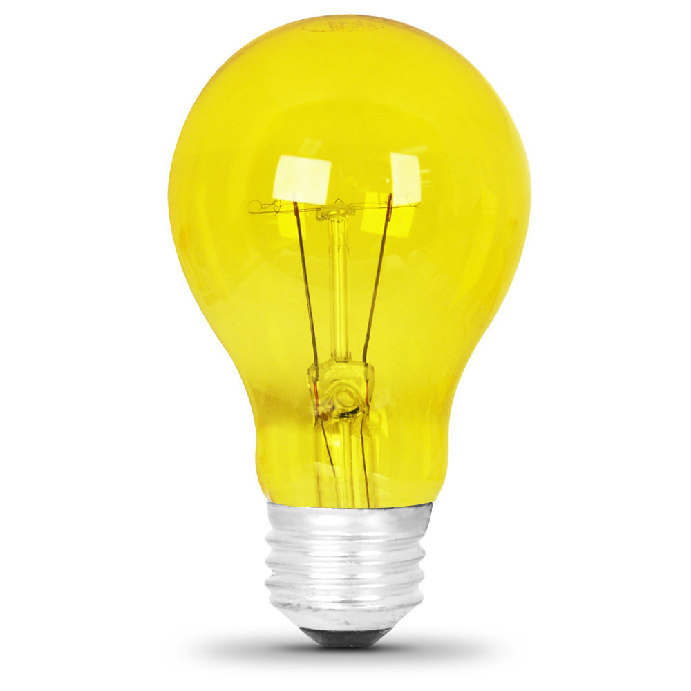Feit String Lights Colored Bulbs : 25 Watt Transparent Yellow A19 Party Light - Feit Electric