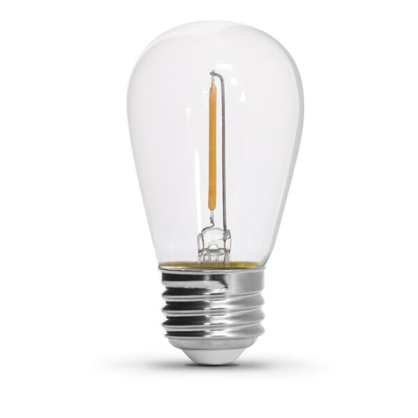 S14/822/FILED/4 11-Watt Equivalent S14 LED String Light Replacement Bulbs - Feit Electric