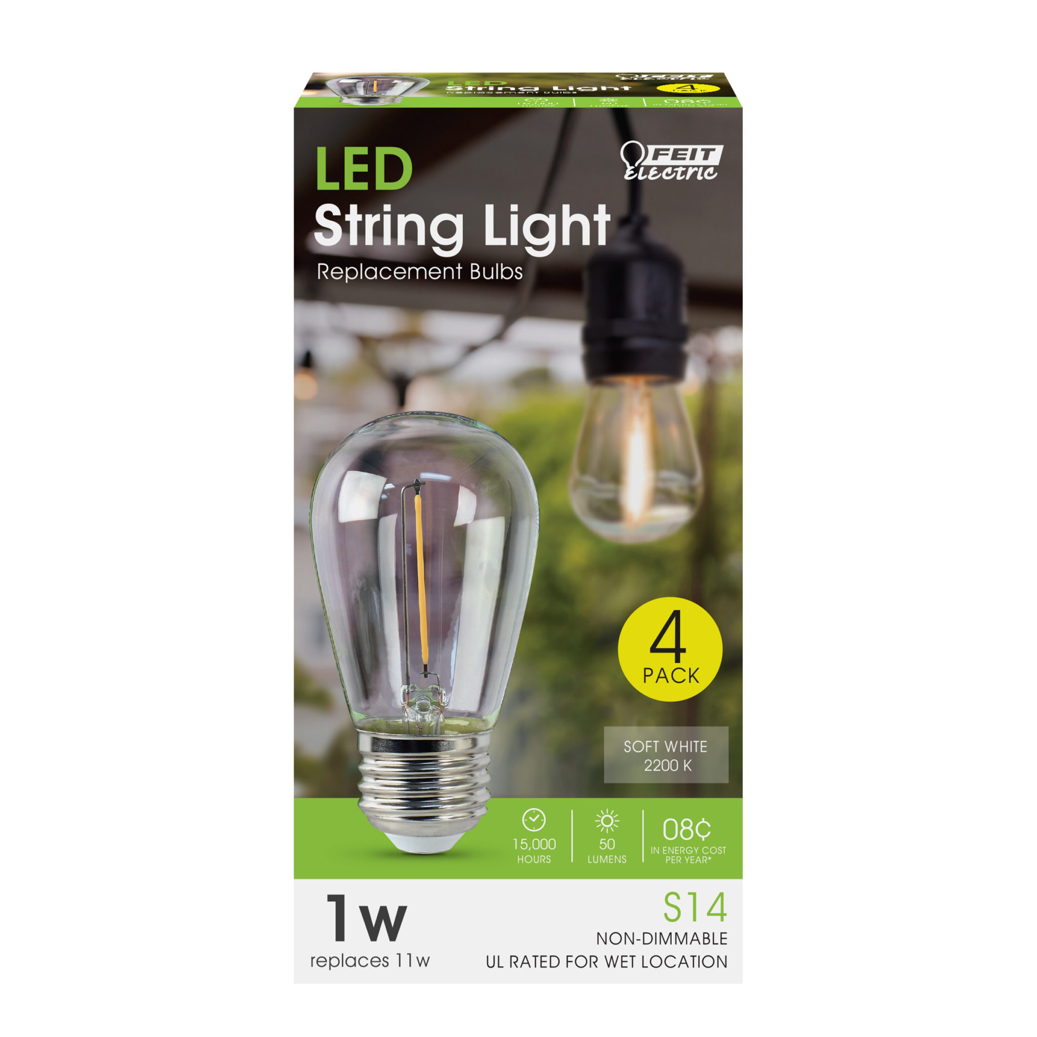 LED String Light Replacement Bulbs - Feit Electric