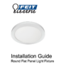 Round Flat Panel Install Guide