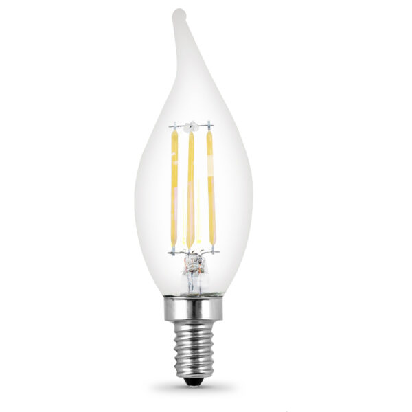 40-Watt Equivalent Clear CA10 Dimmable Soft White Decorative LED Filament Enhance (4-Pack)