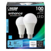 100-Watt Equivalent Daylight A19 Dimmable LED Enhance Omnidirectional LED (2-Pack)