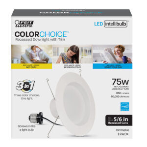 5-6 inch high-CRI color changing recesed downlight - LEDR56/4WYCA - Feit Electic