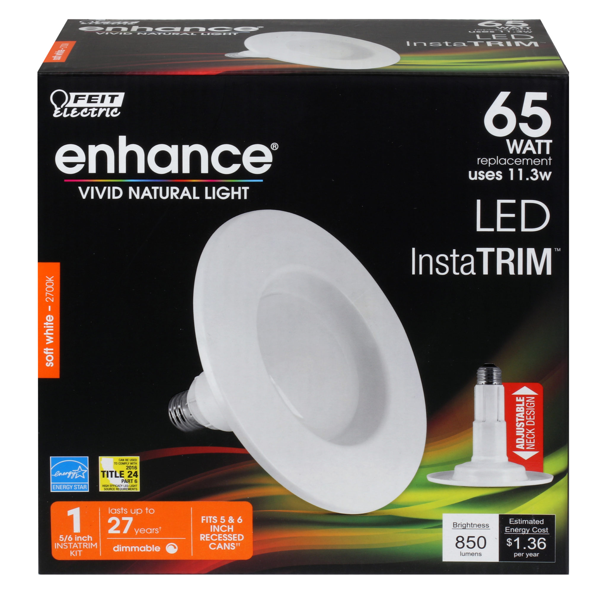 850 Lumen 2700k Adjustable 5 Amp 6 Inch Dimmable Recessed