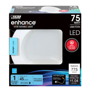 75W Equivalent Daylight 4 In. Dimmable Enhance LED Downlight