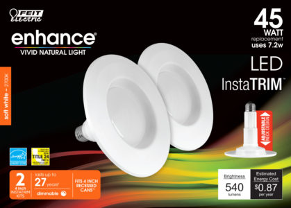 InstaTrim 4 in. Soft White Integrated LED Recessed Downright (2-pack)