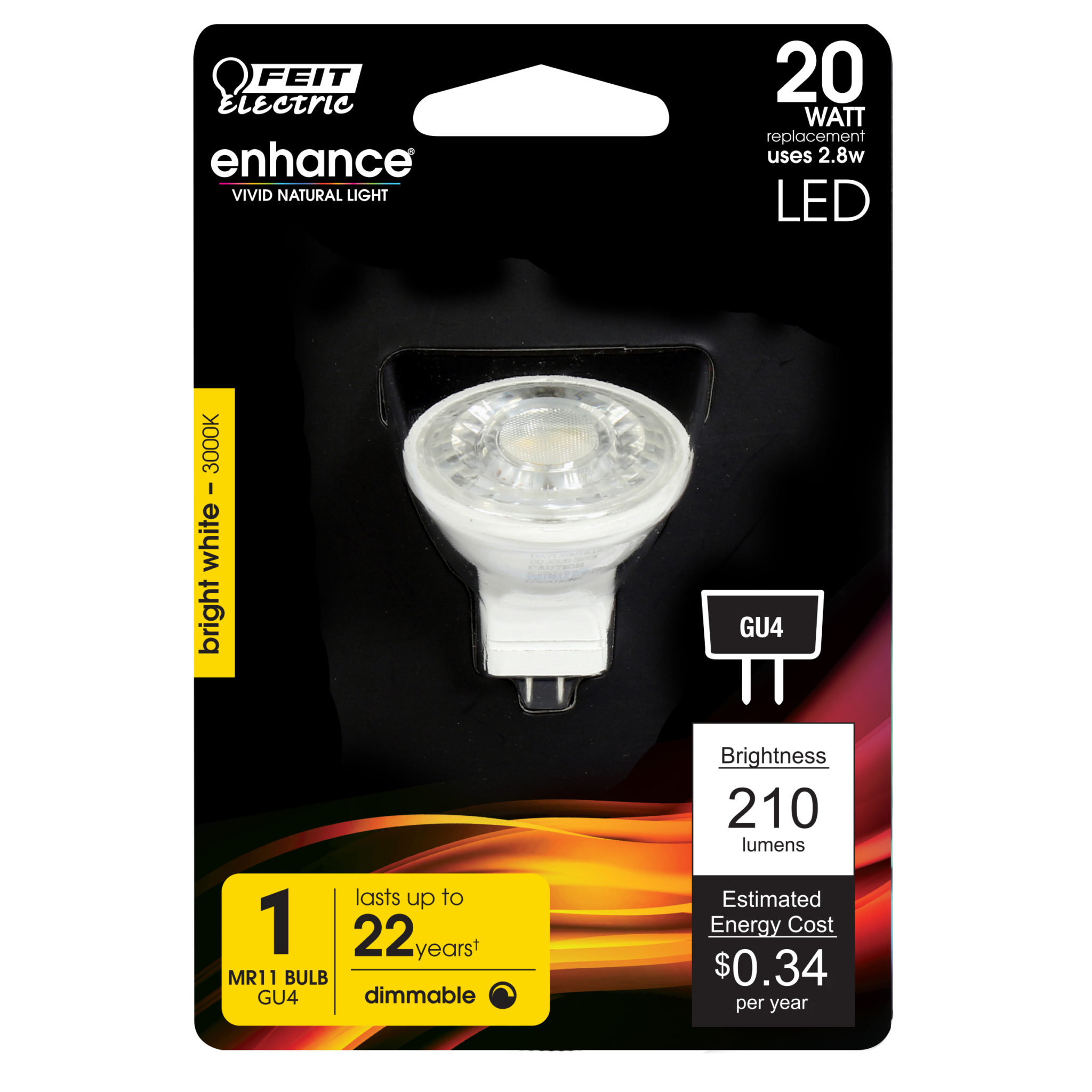 210 Lumen 3000k Dimmable Led Feit Electric