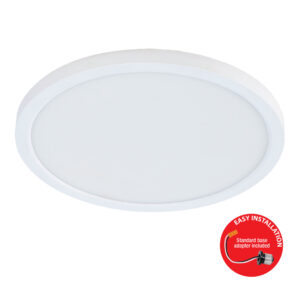 800 Lumen 3000K 5/6 inch Flat Panel LED Recessed Downlight