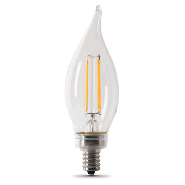 Feit Electric 40W dimmable chandelier flame tip LED bulb