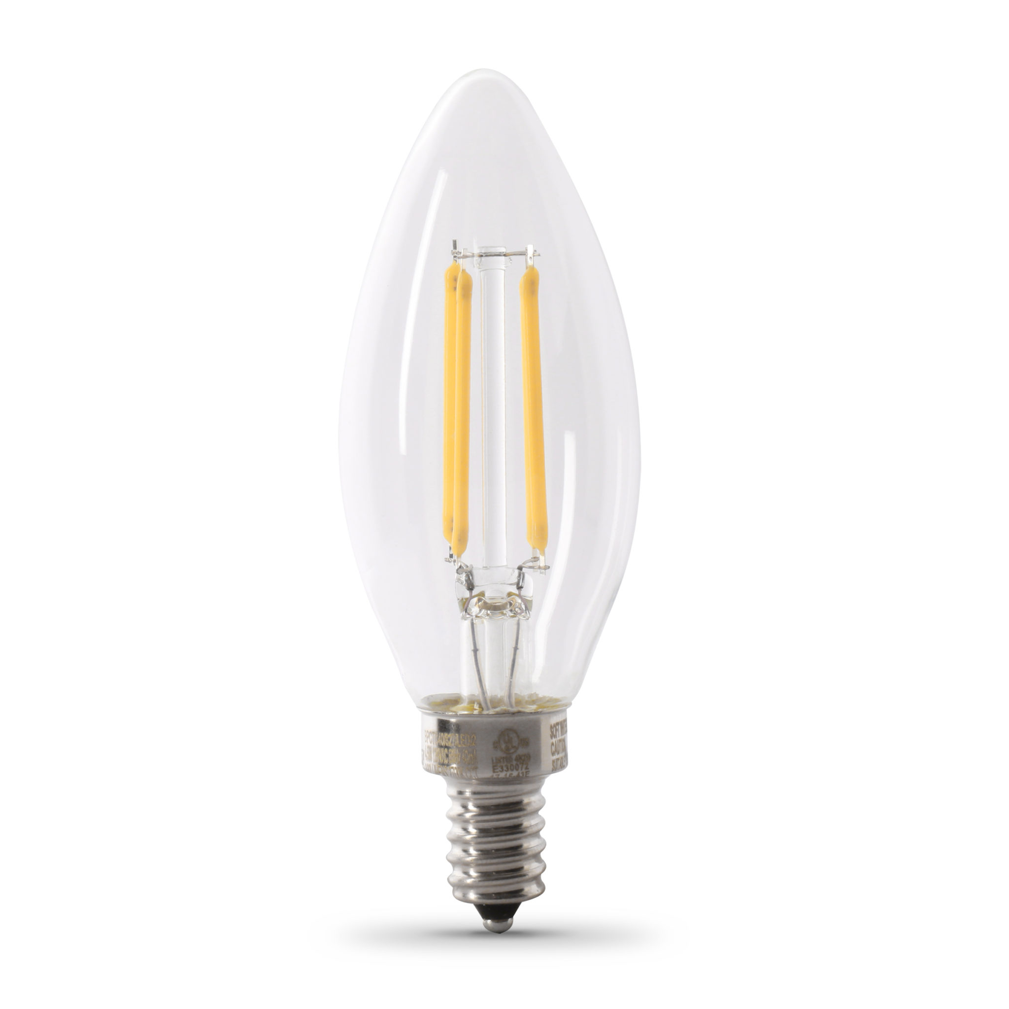 60 W Equivalent Daylight B10 Dimmable Enhance Glass Filament LED Light Bulb (6-Pack)