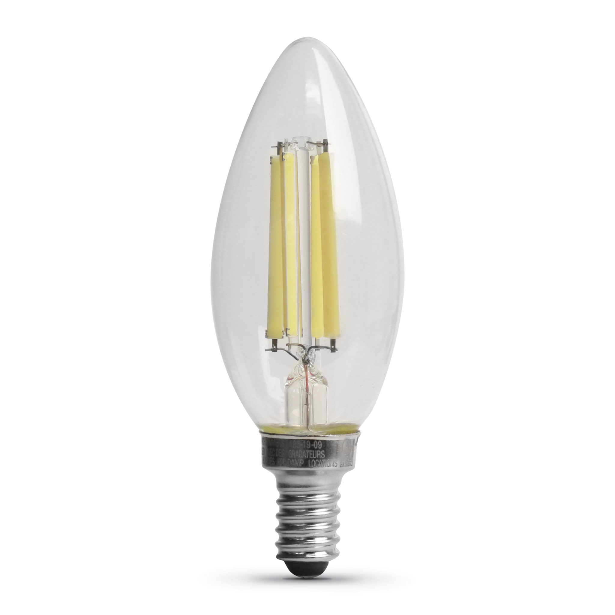 75 Watt Equivalent Daylight Chandelier Glass Filament LED