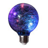 Crackle Glass Red Green and Blue Fairy Light LED Bulb