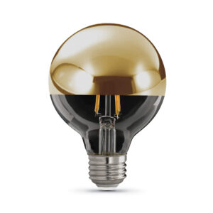 G25 Gold Dome Top Decorative LED Light Bulb