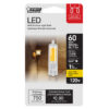 60 W Equivalent Warm White T4 Dimmable Special Use LED Light Bulb