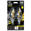 100-Watt Equivalent Clear B10 Soft White Decorative LED (2-Pack)