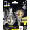 75-Watt Equivalent A15 Soft White Dimmable Filament LED (2-Pack)